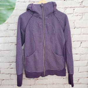 Lululemon Hyper Stripe Deep Zinfandel Lilac Scuba III Purple Stripe